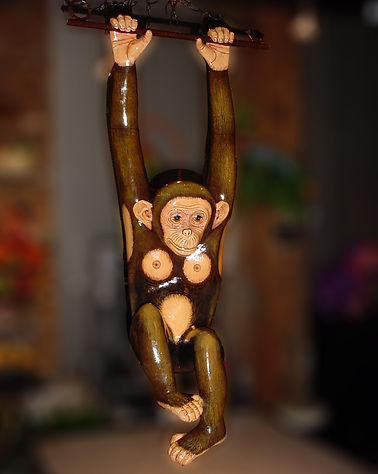 Sergio Bustamante Hanging Chimp | Jeff Meyer Art | Paper Mache Restoration