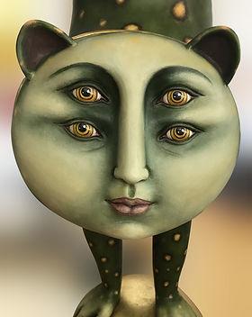 Sergio Bustamante Leopard | Jeff Meyer Art | Ceramic Restoration