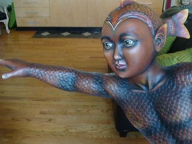 Sergio Bustamante Fish Boy | Jeff Meyer Art | Ceramic Restoration