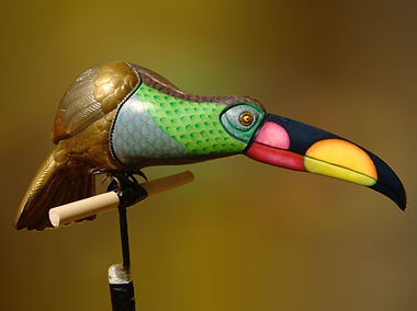 Sergio Bustamante Toucan | Jeff Meyer Art | Ceramic Restoration