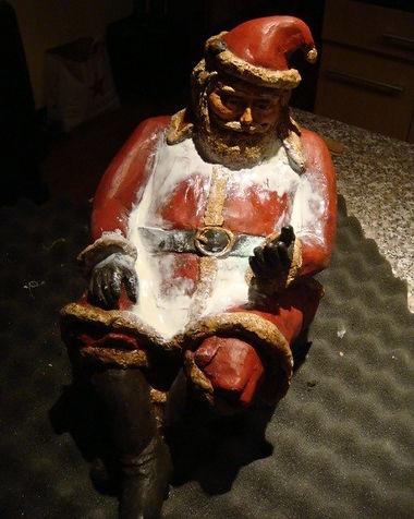 Vintage Santa | Jeff Meyer Art | Resin Restoration