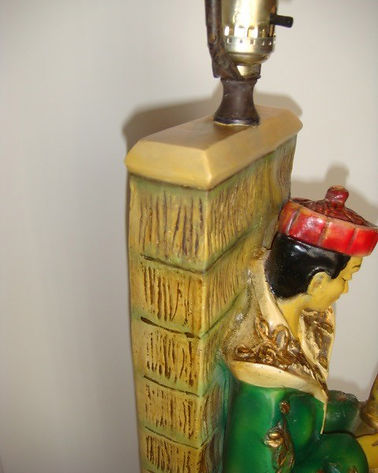 Vintage Oriental Lamp | Jeff Meyer Art | Plaster Restoration