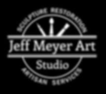 Jeff Meyer Art | Sculpture Restoration and Artisan Services | Black and White Logo