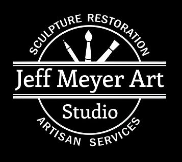 Jeff Meyer Art | Sculpture Restoration and Artisan Services | Black and White Logo
