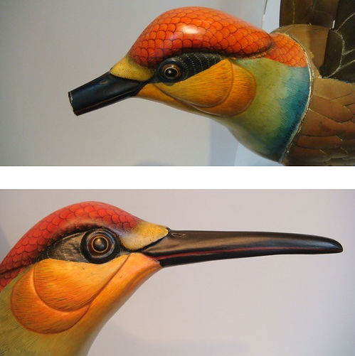 Sergio Bustamante Bird BEFORE and AFTER