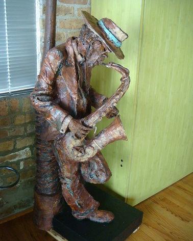 Jazzman | Jeff Meyer Art | Paper Mache Restoration