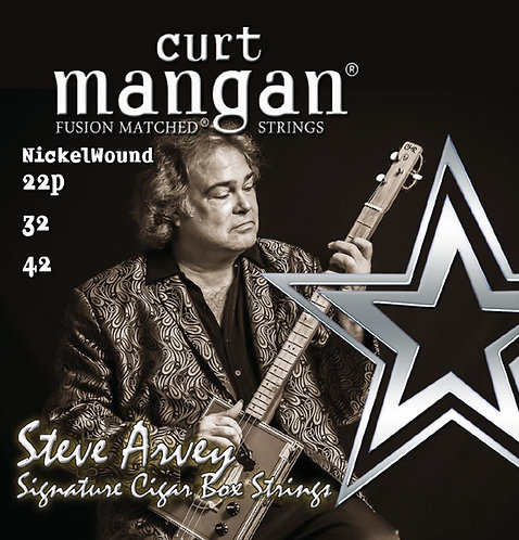 22p, 32, 42 - Steve Arvey Signature Nickel Wound Cigar Box Guitar String