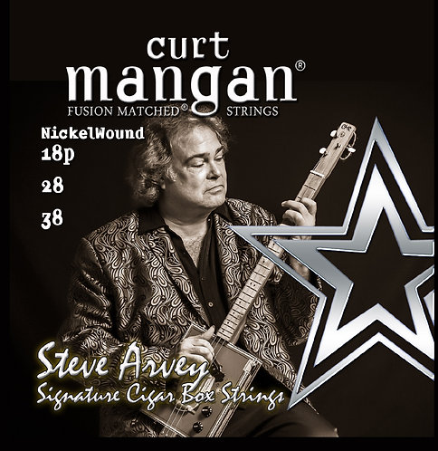 18p, 28, 38 - Steve Arvey Signature Nickel Wound Cigar Box Guitar Strings