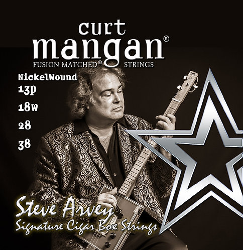 13p, 18w, 28, 38 - Steve Arvey Signature Nickel Wound Cigar Box Guitar Strings