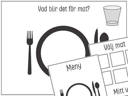 Vad blir det för mat? + Meny