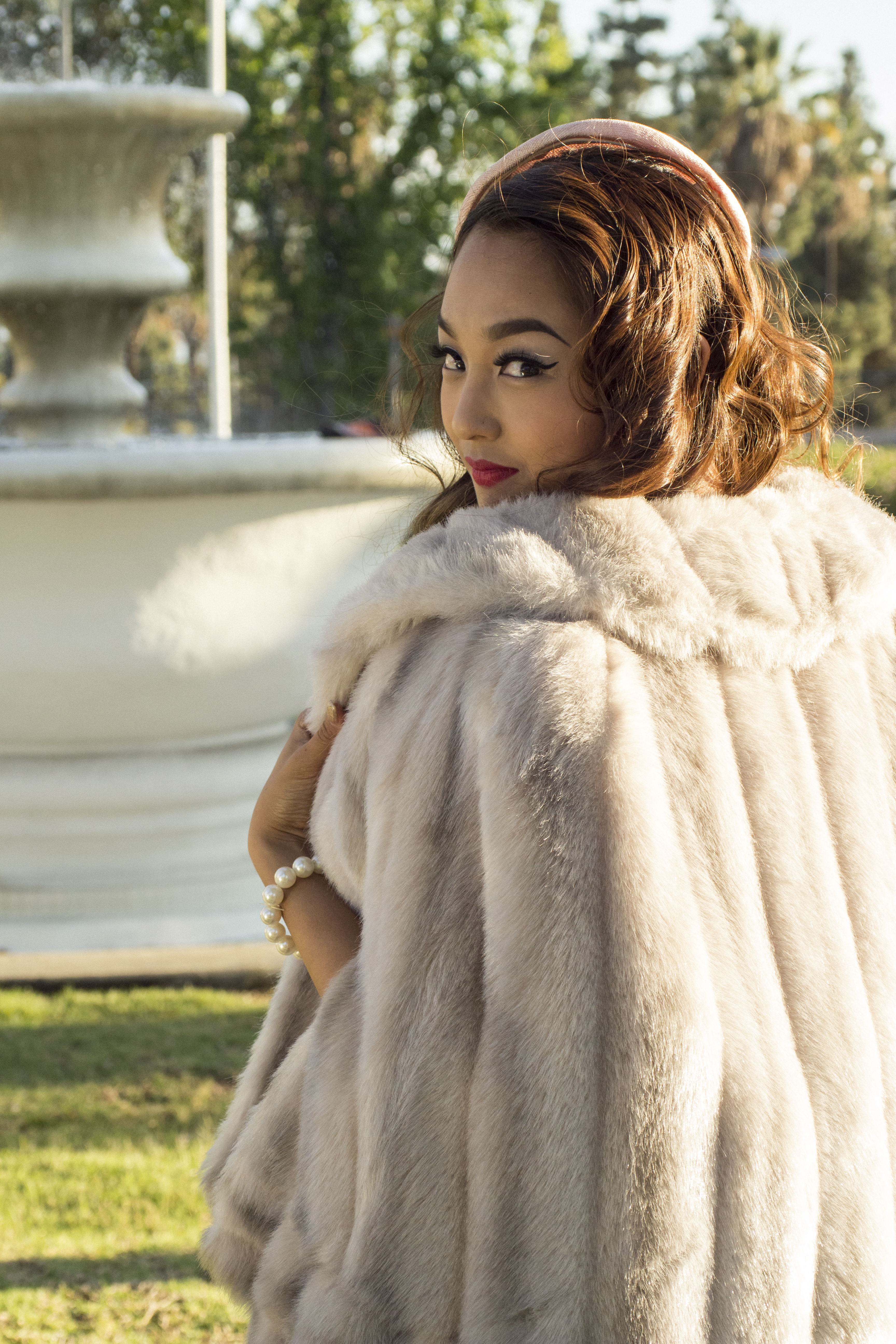 Vintage Faux Fur Cape SOLD
