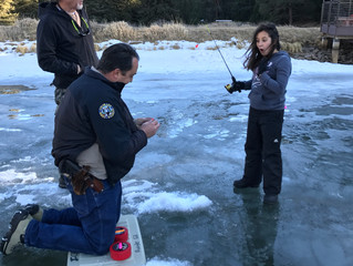 Family Ice Fishing kicks off Family Programming with SOLE!