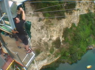 First and Only Bungy Jump - New Zealand