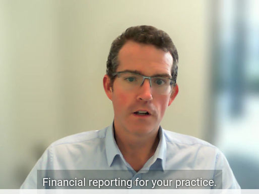 Financial reporting for your practice