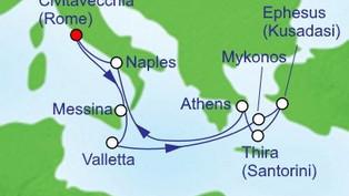 HAL ms Noordam - Europe Mediterranean