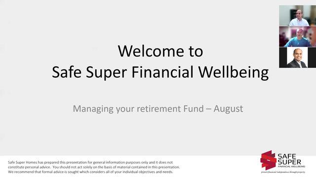 Managing your retirement fund
