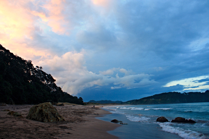 Hot Water Beach sunset