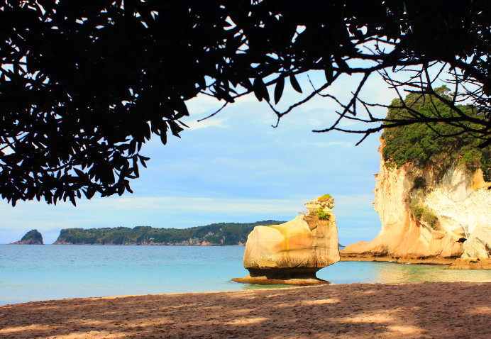 Walking to Cathedral Cove