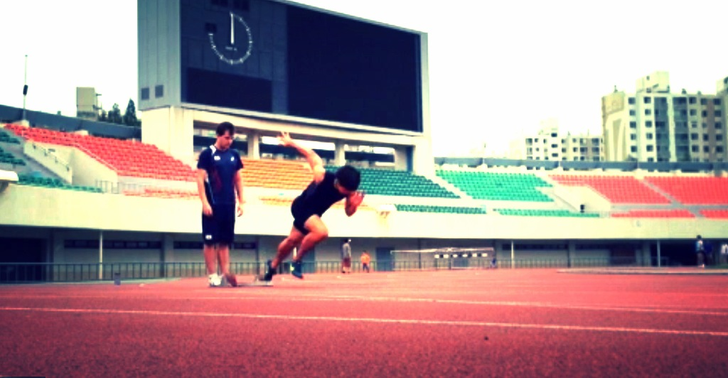 Korean Sprinter with Physio