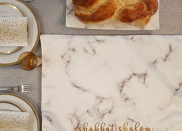 Marble Set: Challah Cover and Tray