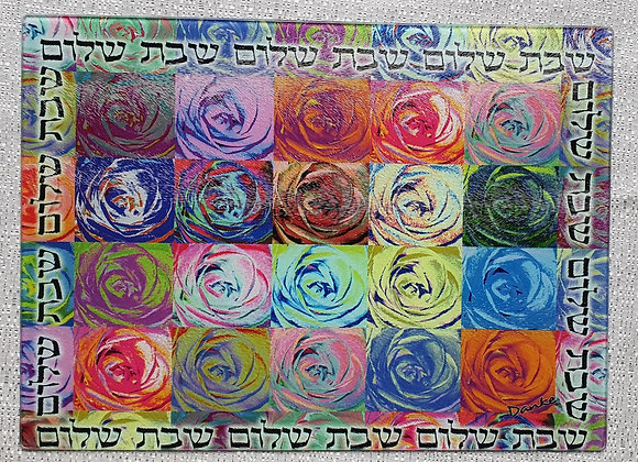 Imperfect Flowers Glass Challah Board