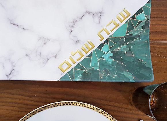 Marble & Jade Challah Tray