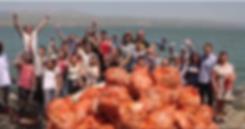 Limpeza de praias e comunidades em Israe