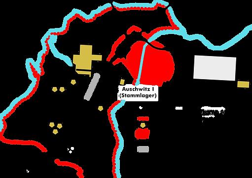 Kaart Auschwitz