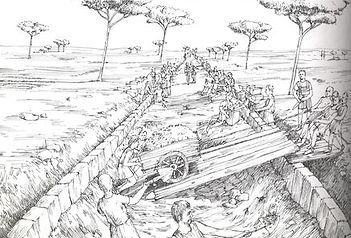 De aanleg van de Via Appia.