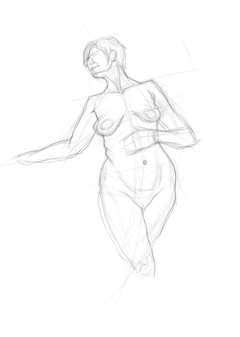 Woman body sketch