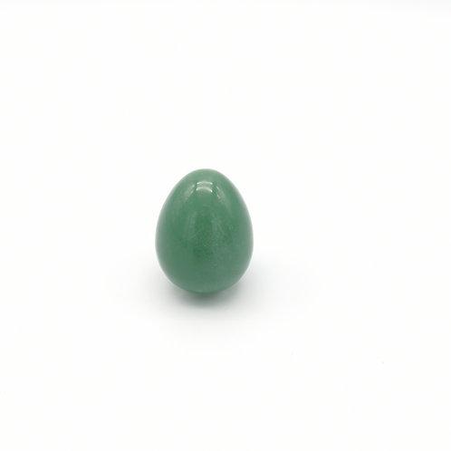 Oeuf de jade en aventurine verte I Moyen