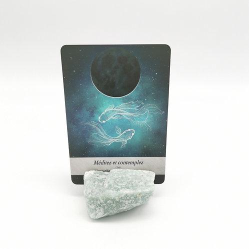 Porte-cartes en quartz vert