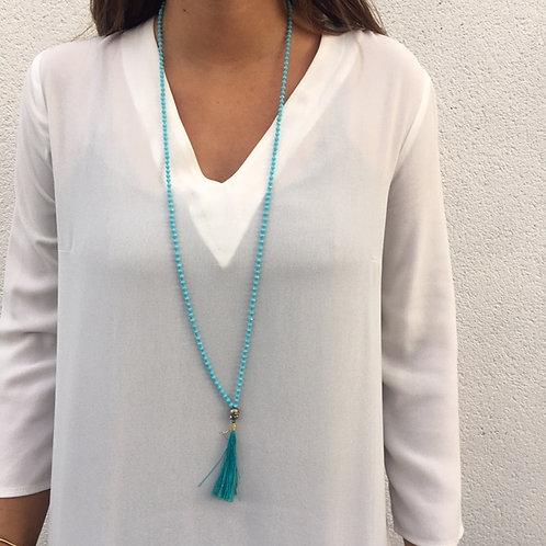 Collier indien bleu ciel