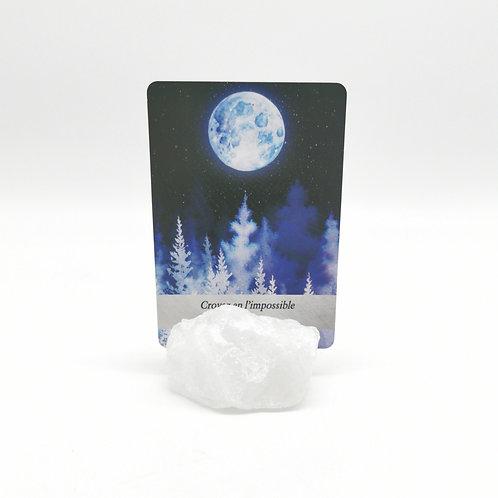 Porte-cartes en cristal de roche