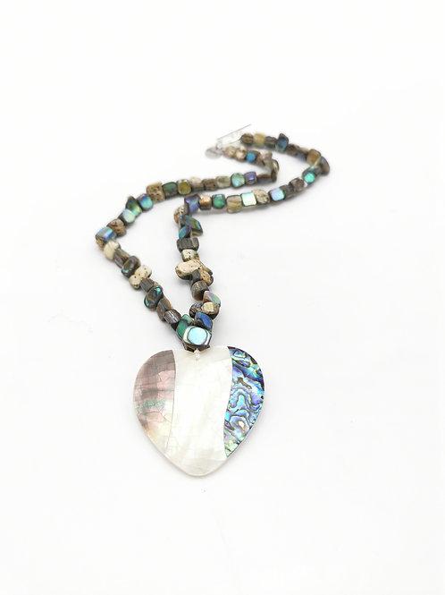 Collier Coeur de l'Océan Bleu