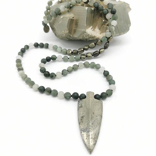 Mala quartz vert