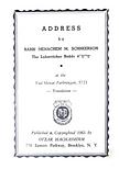 Address by the Rebbe - Yud Shevat 5721.p