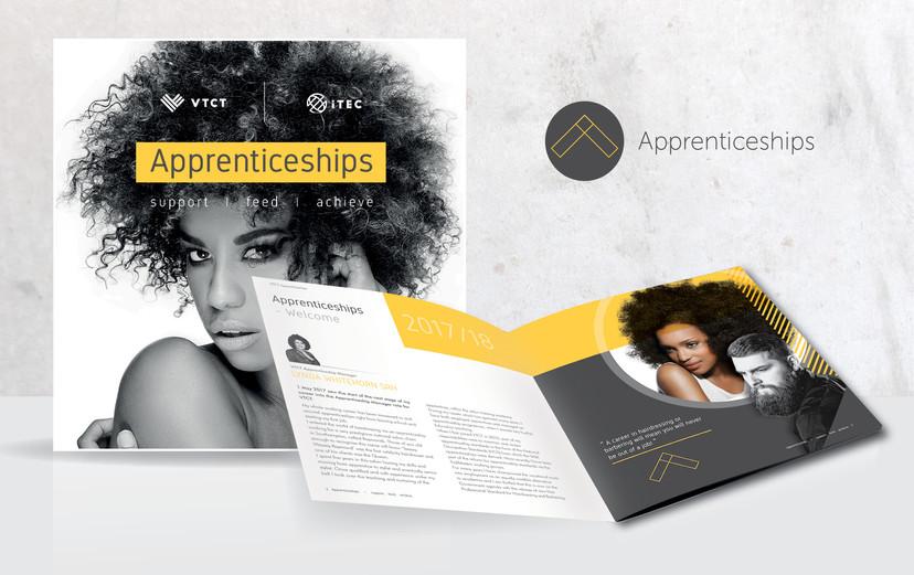 Apprenticeship logo and brochure