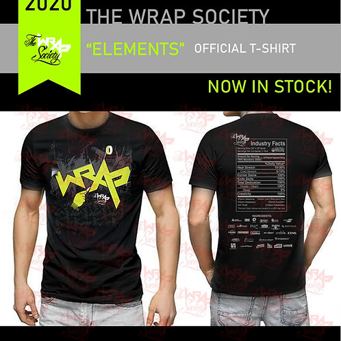"""THE WRAP SOCIETY - TWS 2020 """"ELEMENTS"""" OFFICIAL T-SHIRT Sizes S -5xL"""