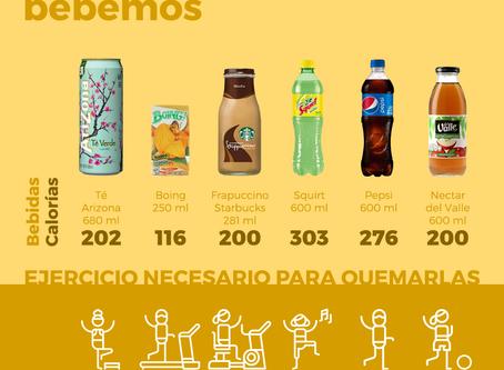 ¿Calorías en las bebidas?😱Son muchas!!!