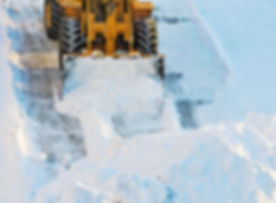 Snow drifts.jpg Tractor clears the way after heavy snowfall.jpg