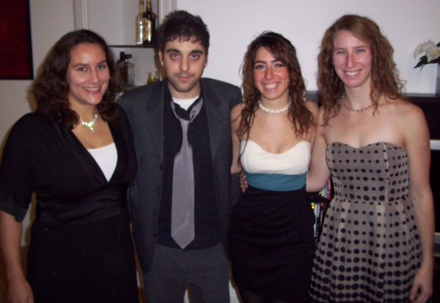 The Reenan Lab crew in a formal