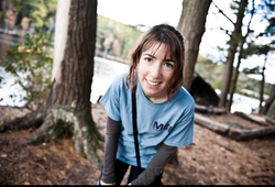 A happy hiking graduate student
