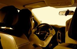 driving through a desert