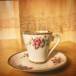 My beloved grandma's coffee cup in the US with me
