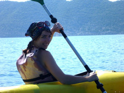 Sea kayaking over a sunken city in Kekova