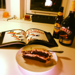My Guiness Cake with Bailey's cream