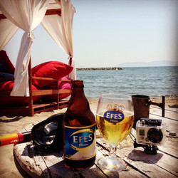Beach, beer, camera