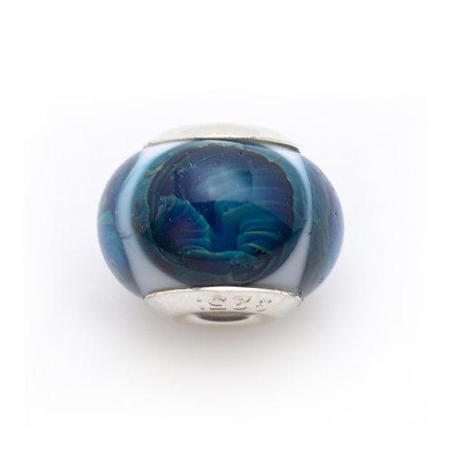 Glass Bead   Blue Sea Eye