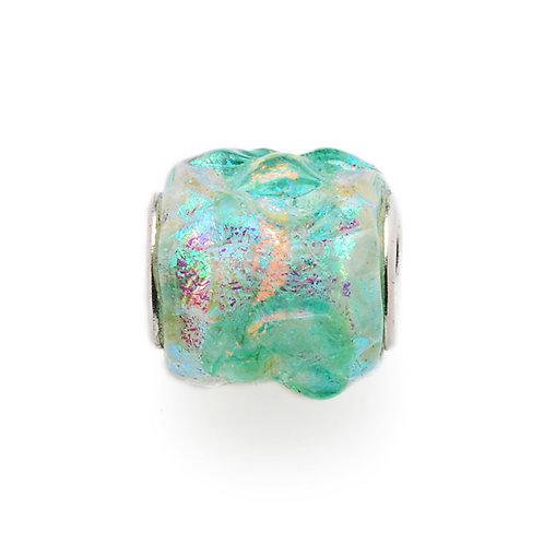 Glass Bead | Minty Ripples